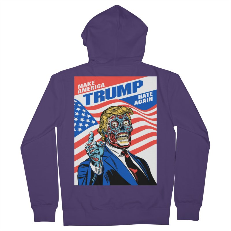 Make America Hate Again! Women's French Terry Zip-Up Hoody by Mitch O'Connell