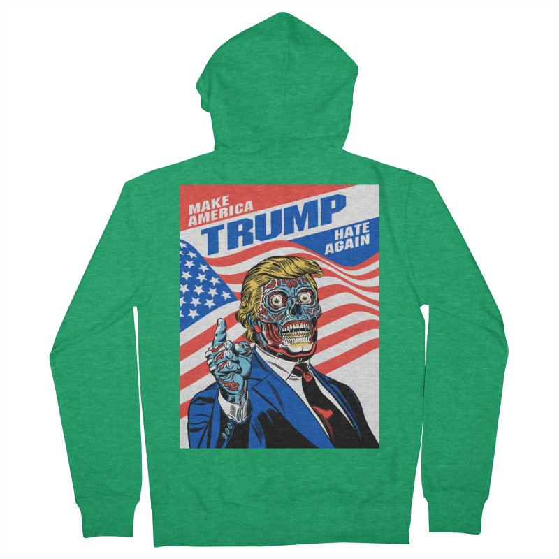 Make America Hate Again! Men's Zip-Up Hoody by Mitch O'Connell