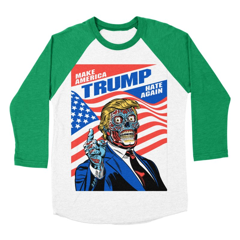 Make America Hate Again! Women's Baseball Triblend Longsleeve T-Shirt by Mitch O'Connell