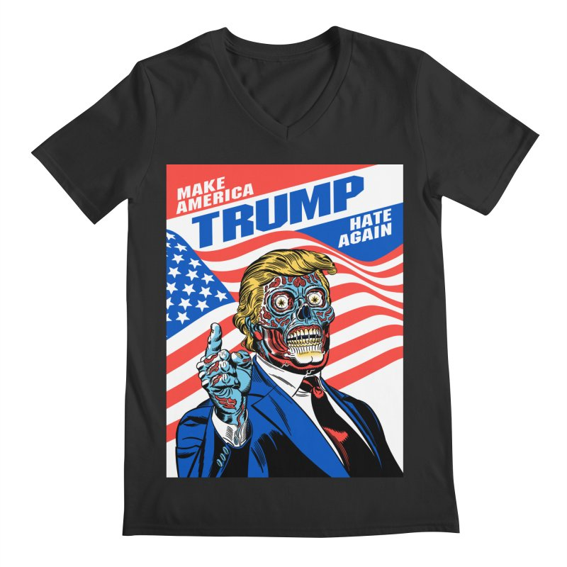 Make America Hate Again! Men's Regular V-Neck by Mitch O'Connell