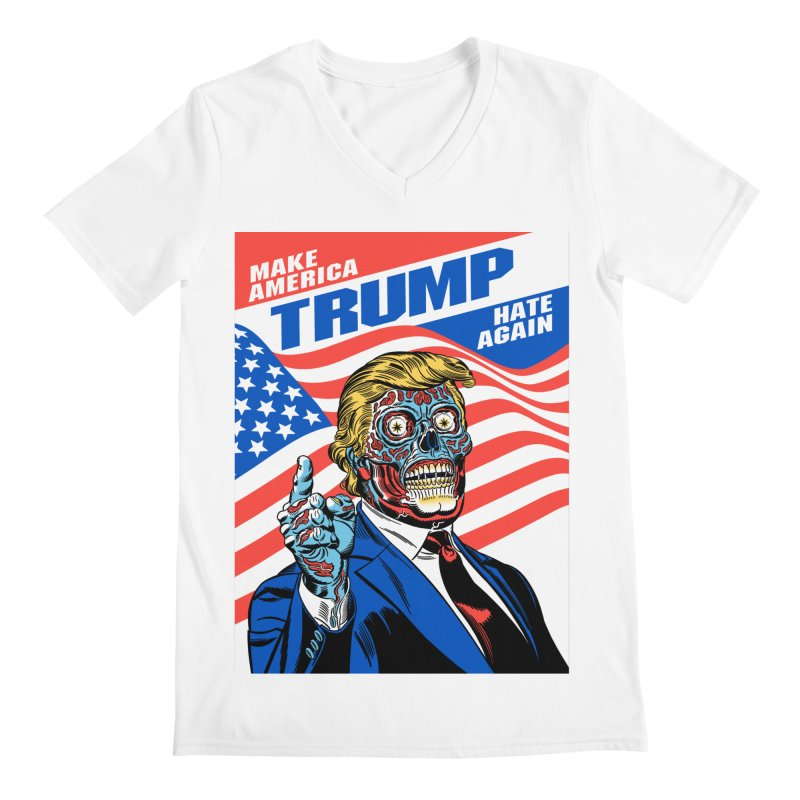 Make America Hate Again! Men's V-Neck by Mitch O'Connell