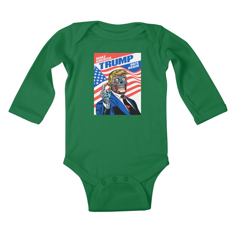 Make America Hate Again! Kids Baby Longsleeve Bodysuit by Mitch O'Connell