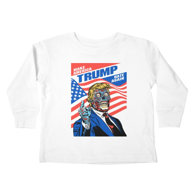 Make America Hate Again! Kids Toddler Longsleeve T-Shirt by Mitch O'Connell