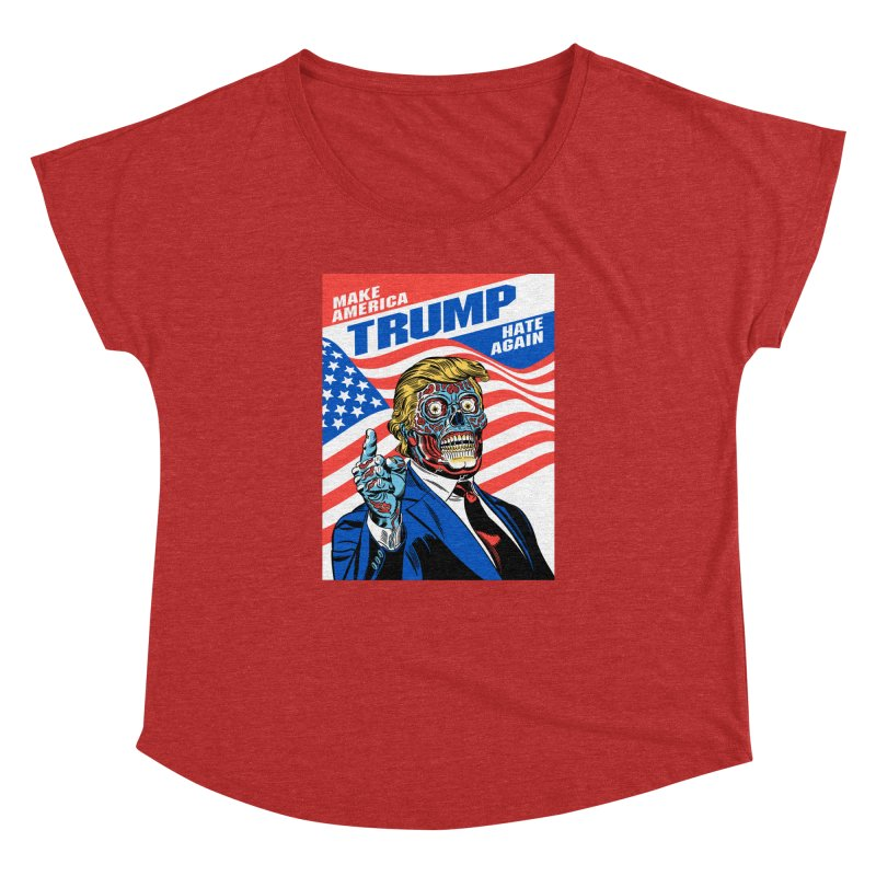 Make America Hate Again! Women's Dolman Scoop Neck by Mitch O'Connell