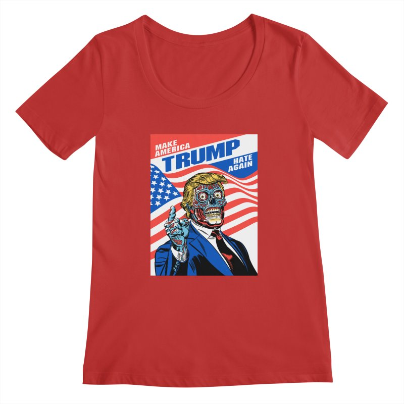 Make America Hate Again! Women's Regular Scoop Neck by Mitch O'Connell