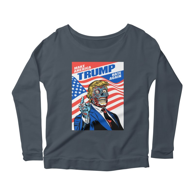 Make America Hate Again! Women's Scoop Neck Longsleeve T-Shirt by Mitch O'Connell