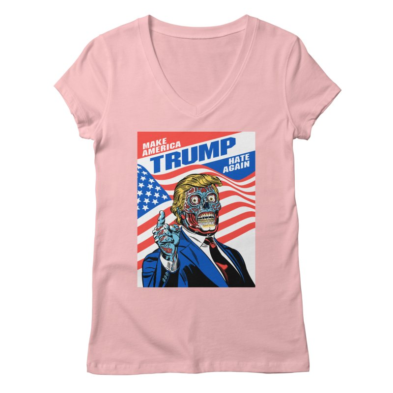 Make America Hate Again! Women's Regular V-Neck by Mitch O'Connell