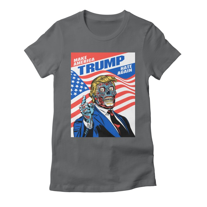 Make America Hate Again! Women's Fitted T-Shirt by Mitch O'Connell