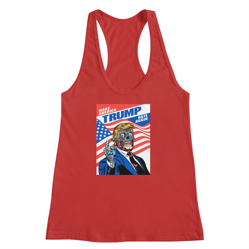 Make America Hate Again! Women's Racerback Tank by Mitch O'Connell