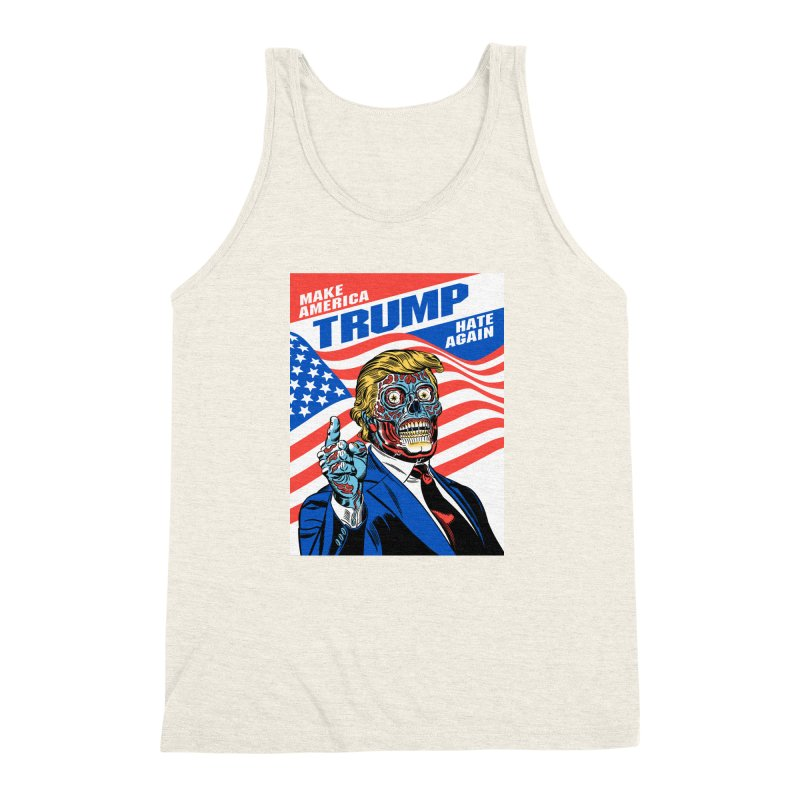 Make America Hate Again! Men's Triblend Tank by Mitch O'Connell