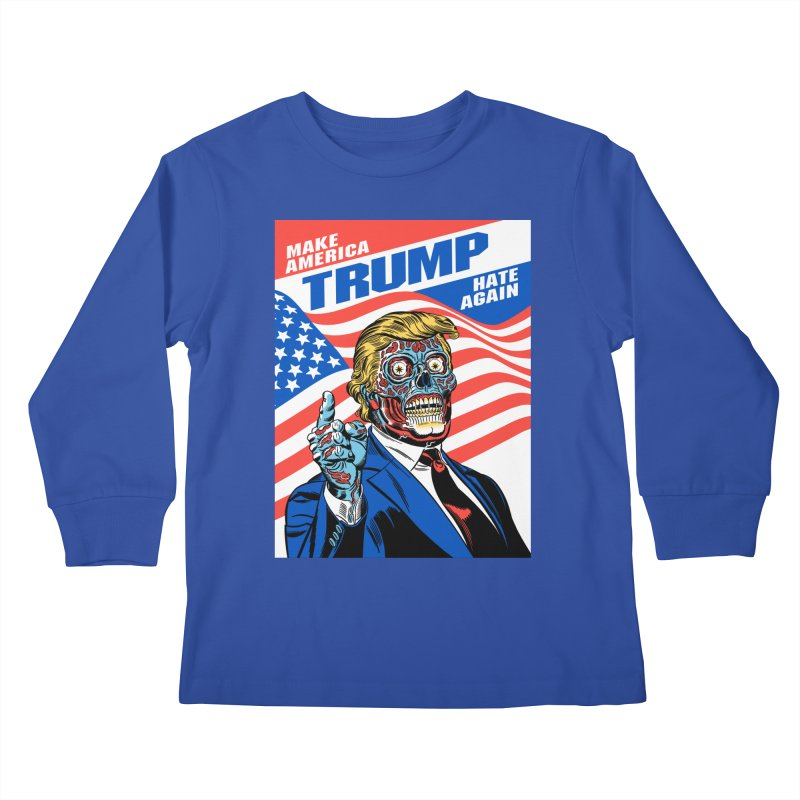 Make America Hate Again! Kids Longsleeve T-Shirt by Mitch O'Connell