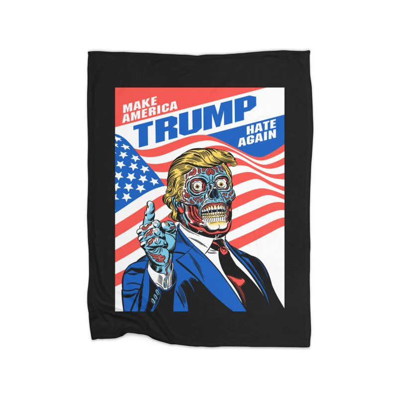 Make America Hate Again! Home Fleece Blanket Blanket by Mitch O'Connell