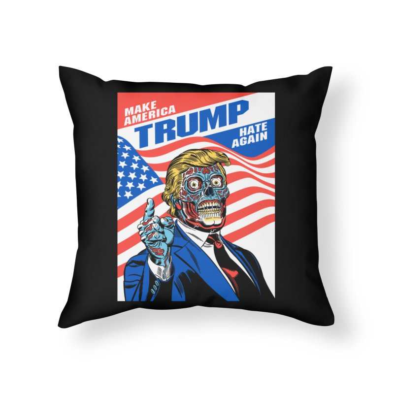 Make America Hate Again! Home Throw Pillow by Mitch O'Connell