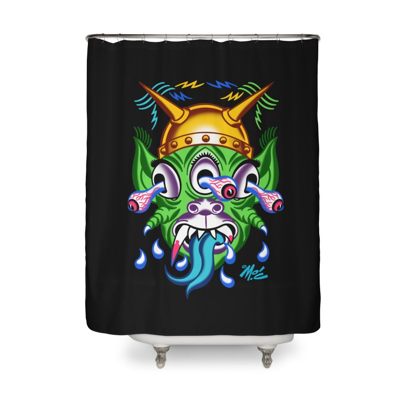 "'Leave it to Beaver' Monster Shirt! ""Beaver"" version! Home Shower Curtain by Mitch O'Connell"