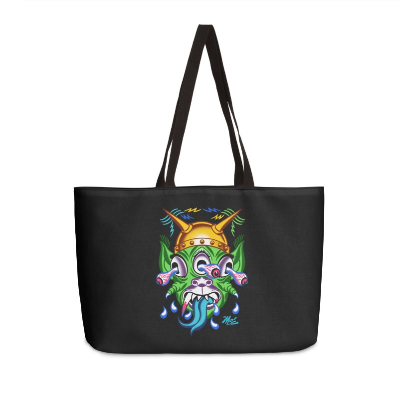 """'Leave it to Beaver' Monster Shirt! """"Beaver"""" version! Accessories Weekender Bag Bag by Mitch O'Connell"""