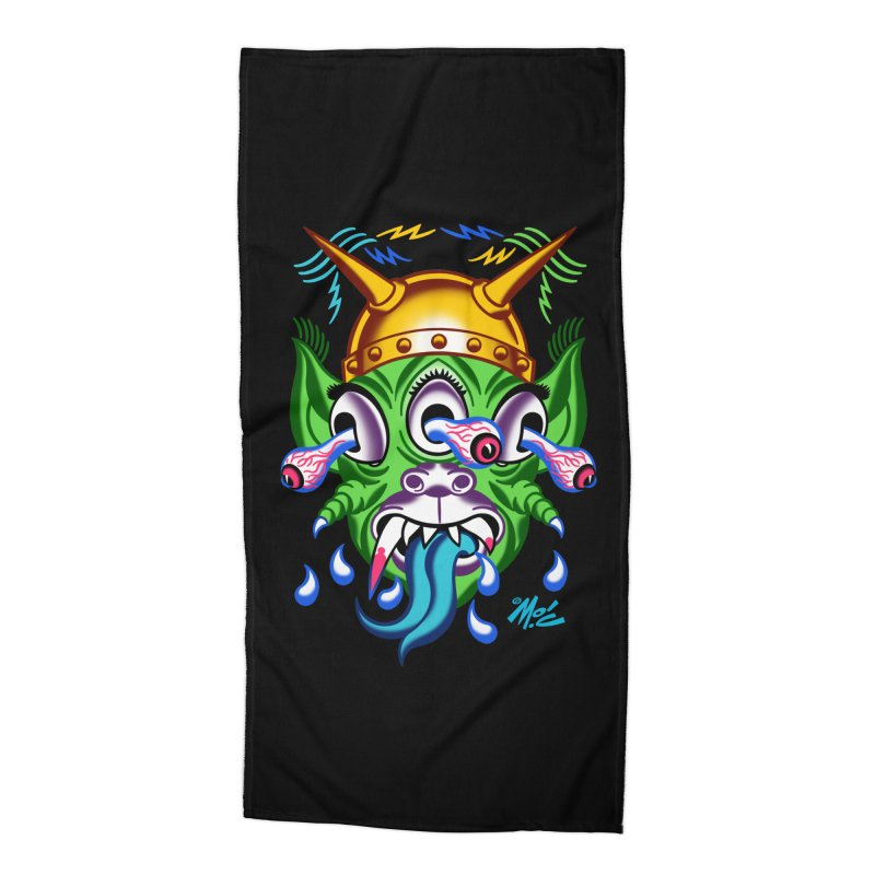 """'Leave it to Beaver' Monster Shirt! """"Beaver"""" version! Accessories Beach Towel by Mitch O'Connell"""