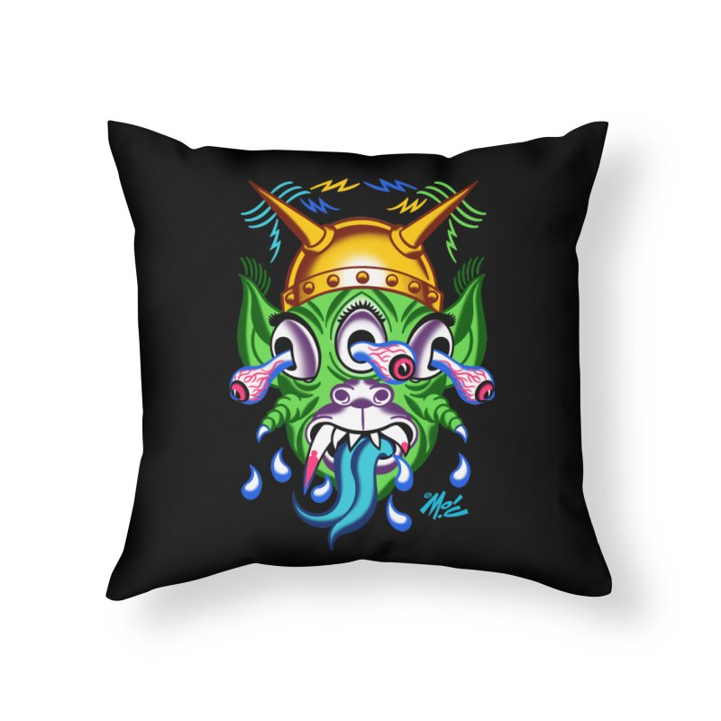 "'Leave it to Beaver' Monster Shirt! ""Beaver"" version! Home Throw Pillow by Mitch O'Connell"