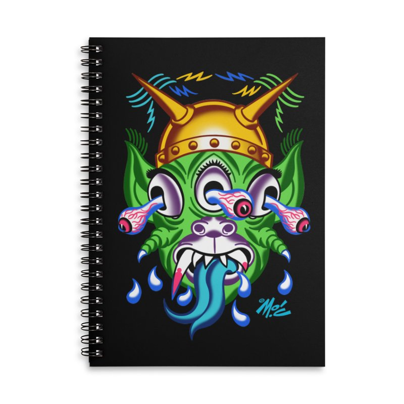 "'Leave it to Beaver' Monster Shirt! ""Beaver"" version! Accessories Lined Spiral Notebook by Mitch O'Connell"