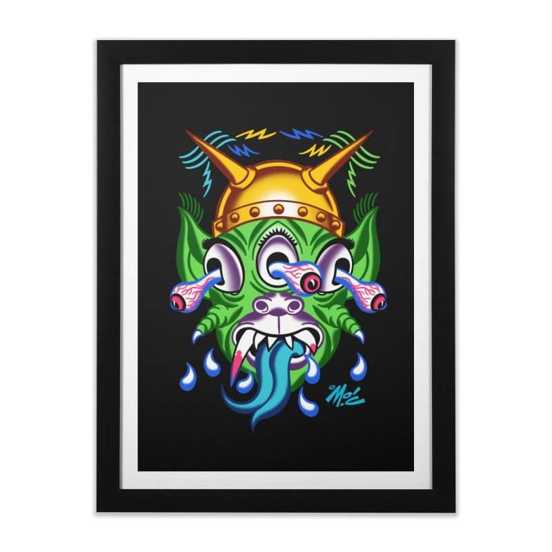 "'Leave it to Beaver' Monster Shirt! ""Beaver"" version! Home Framed Fine Art Print by Mitch O'Connell"