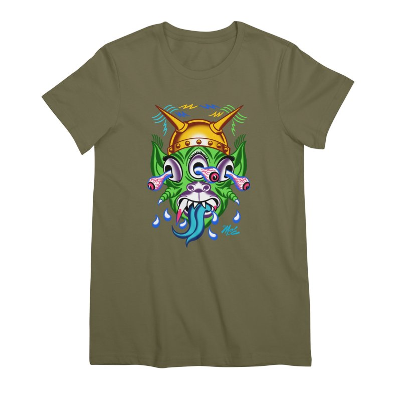 """'Leave it to Beaver' Monster Shirt! """"Beaver"""" version! Women's Premium T-Shirt by Mitch O'Connell"""