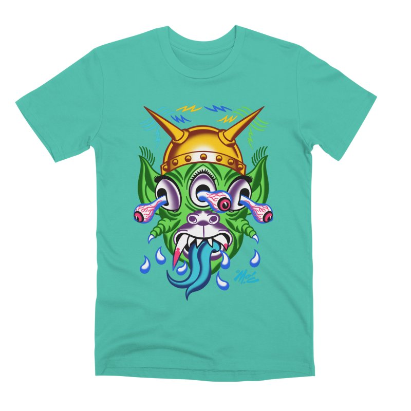 """'Leave it to Beaver' Monster Shirt! """"Beaver"""" version! Men's Premium T-Shirt by Mitch O'Connell"""