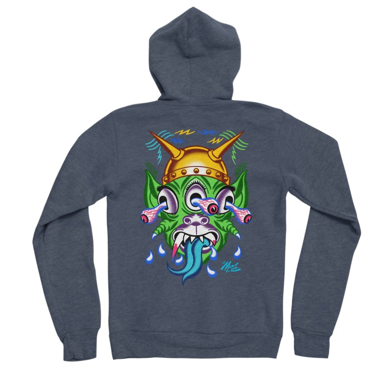 "'Leave it to Beaver' Monster Shirt! ""Beaver"" version! Men's Sponge Fleece Zip-Up Hoody by Mitch O'Connell"