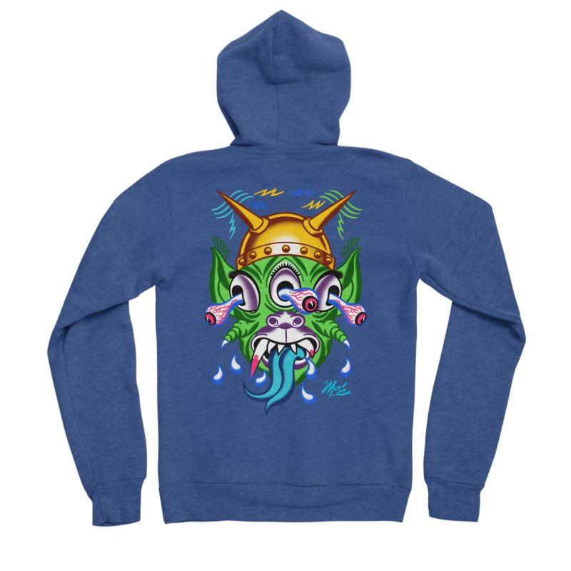 """'Leave it to Beaver' Monster Shirt! """"Beaver"""" version! Women's Sponge Fleece Zip-Up Hoody by Mitch O'Connell"""