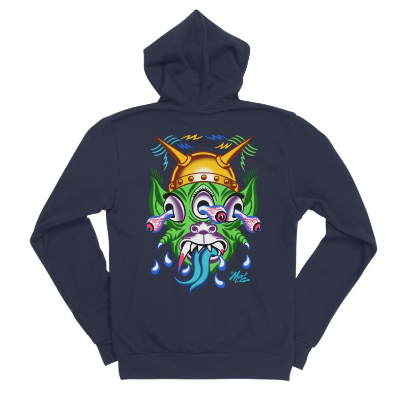 """'Leave it to Beaver' Monster Shirt! """"Beaver"""" version! Men's Sponge Fleece Zip-Up Hoody by Mitch O'Connell"""