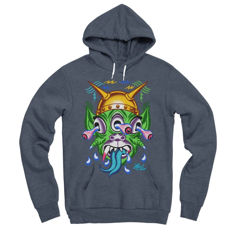 """'Leave it to Beaver' Monster Shirt! """"Beaver"""" version! Women's Sponge Fleece Pullover Hoody by Mitch O'Connell"""