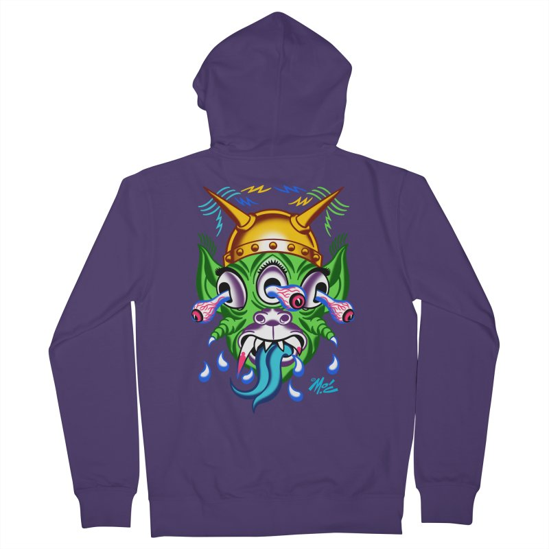 """'Leave it to Beaver' Monster Shirt! """"Beaver"""" version! Women's French Terry Zip-Up Hoody by Mitch O'Connell"""
