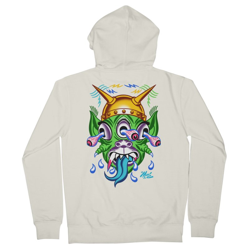 "'Leave it to Beaver' Monster Shirt! ""Beaver"" version! Women's French Terry Zip-Up Hoody by Mitch O'Connell"
