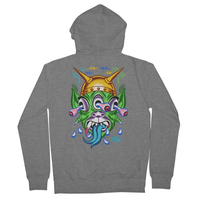 """'Leave it to Beaver' Monster Shirt! """"Beaver"""" version! Men's French Terry Zip-Up Hoody by Mitch O'Connell"""
