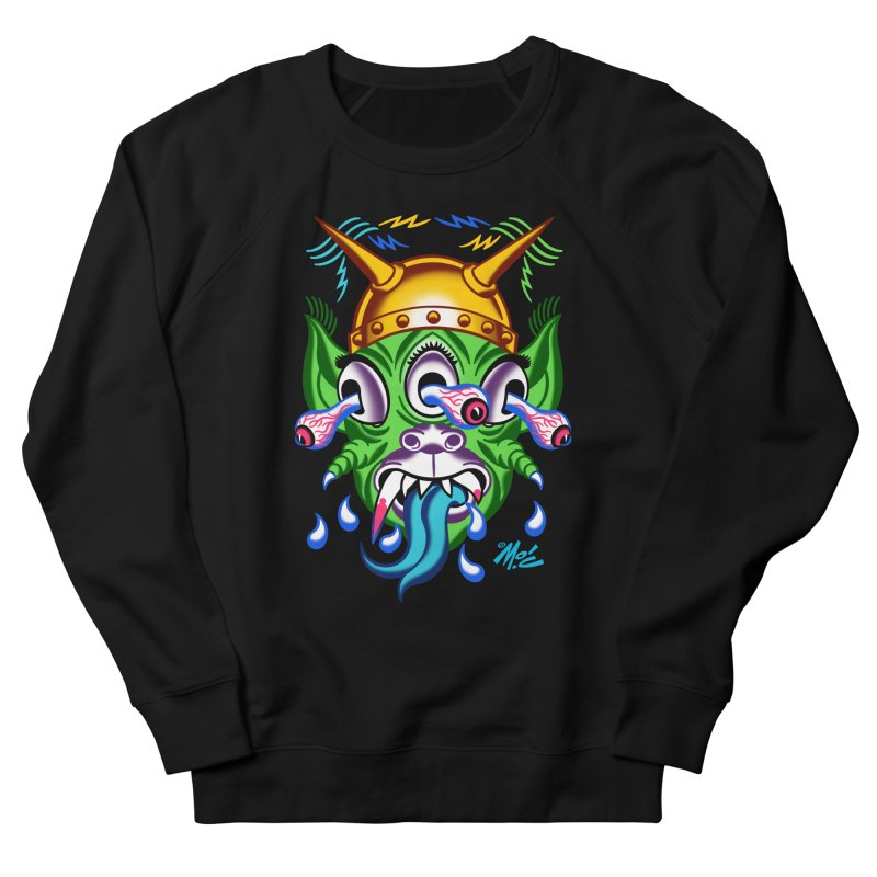 """'Leave it to Beaver' Monster Shirt! """"Beaver"""" version! Women's French Terry Sweatshirt by Mitch O'Connell"""