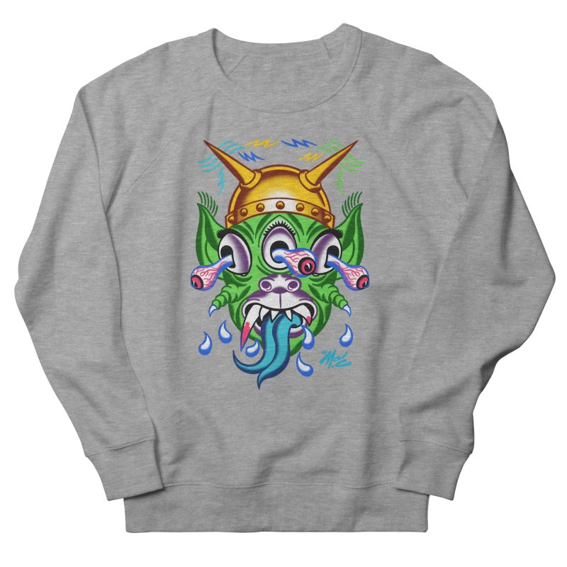 """'Leave it to Beaver' Monster Shirt! """"Beaver"""" version! Men's French Terry Sweatshirt by Mitch O'Connell"""