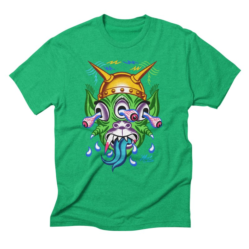 """'Leave it to Beaver' Monster Shirt! """"Beaver"""" version! Men's Triblend T-Shirt by Mitch O'Connell"""