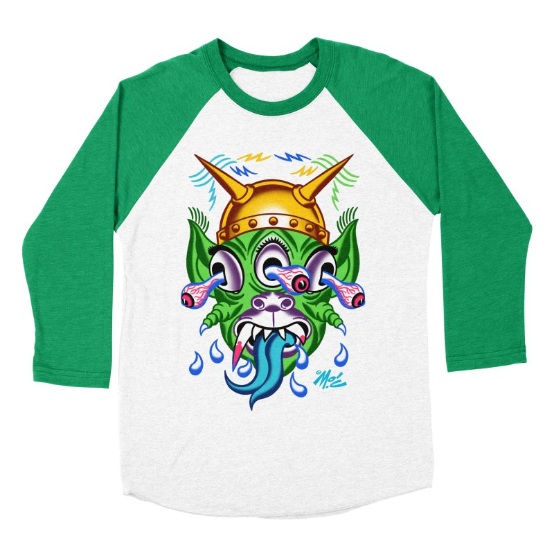 """'Leave it to Beaver' Monster Shirt! """"Beaver"""" version! Women's Baseball Triblend Longsleeve T-Shirt by Mitch O'Connell"""