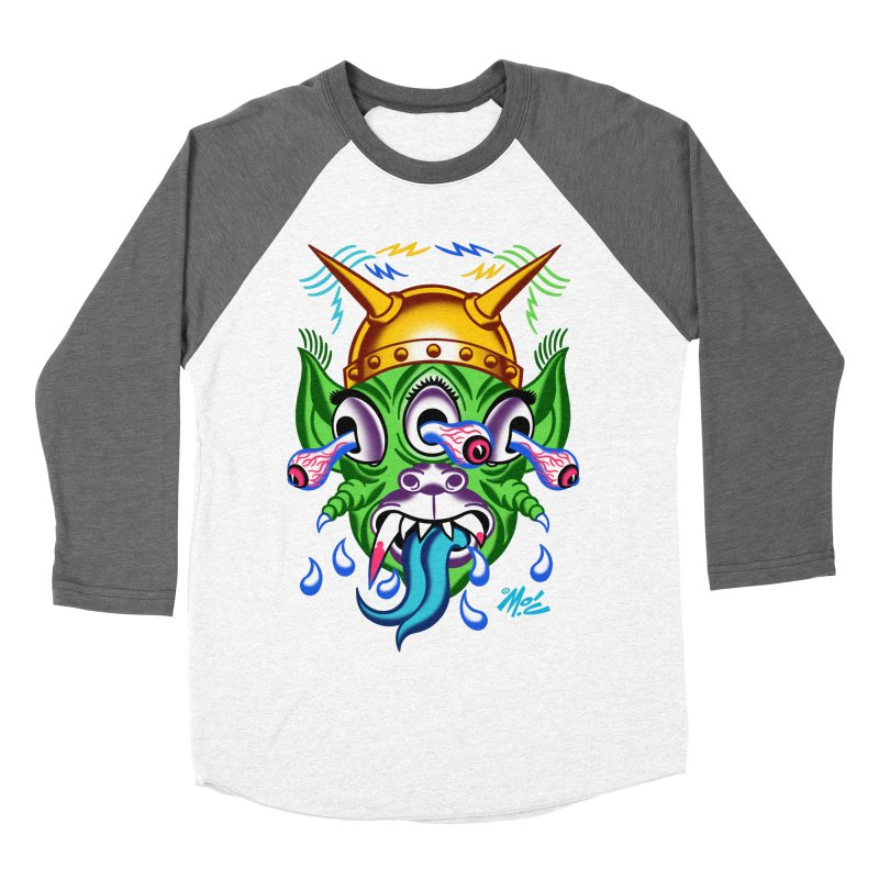 """'Leave it to Beaver' Monster Shirt! """"Beaver"""" version! Men's Baseball Triblend Longsleeve T-Shirt by Mitch O'Connell"""