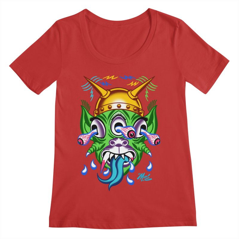 "'Leave it to Beaver' Monster Shirt! ""Beaver"" version! Women's Regular Scoop Neck by Mitch O'Connell"