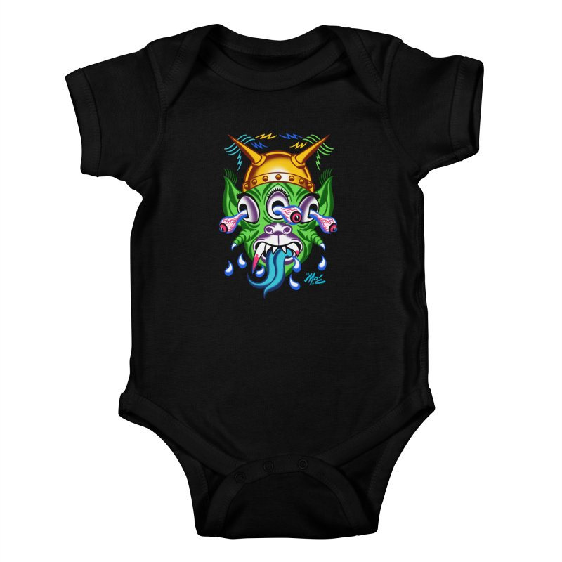 """'Leave it to Beaver' Monster Shirt! """"Beaver"""" version! Kids Baby Bodysuit by Mitch O'Connell"""