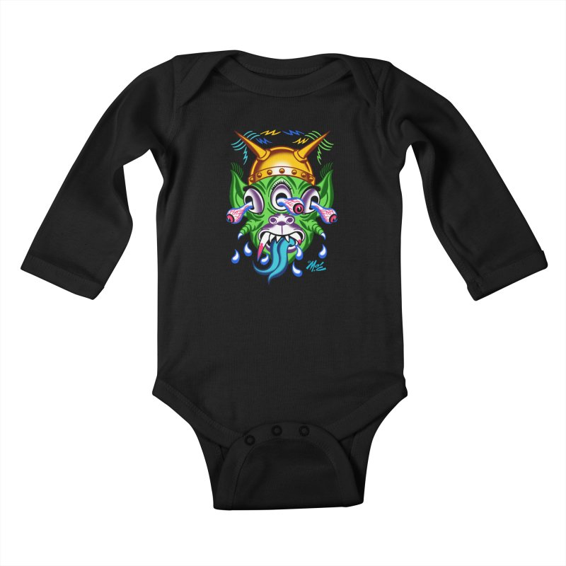 """'Leave it to Beaver' Monster Shirt! """"Beaver"""" version! Kids Baby Longsleeve Bodysuit by Mitch O'Connell"""