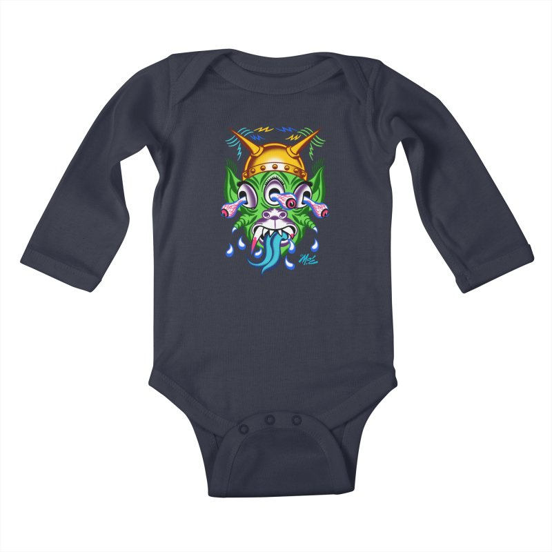 "'Leave it to Beaver' Monster Shirt! ""Beaver"" version! Kids Baby Longsleeve Bodysuit by Mitch O'Connell"