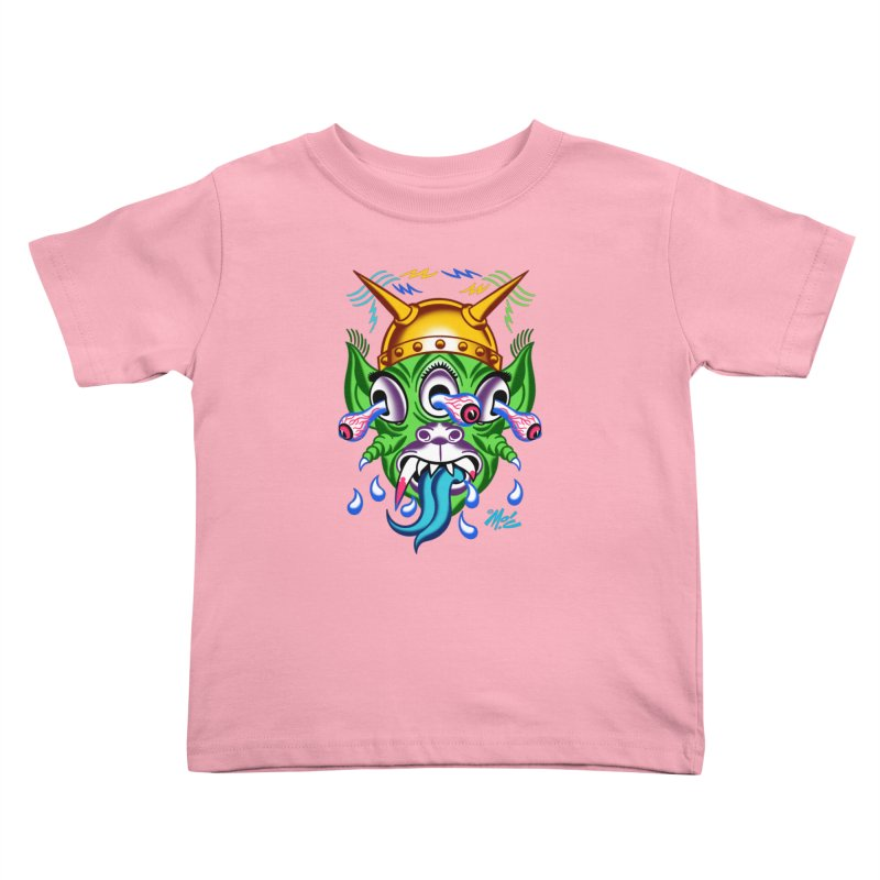 """'Leave it to Beaver' Monster Shirt! """"Beaver"""" version! Kids Toddler T-Shirt by Mitch O'Connell"""