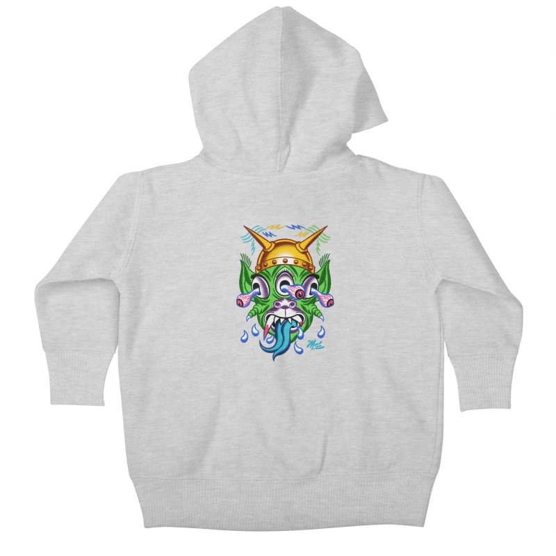 """'Leave it to Beaver' Monster Shirt! """"Beaver"""" version! Kids Baby Zip-Up Hoody by Mitch O'Connell"""