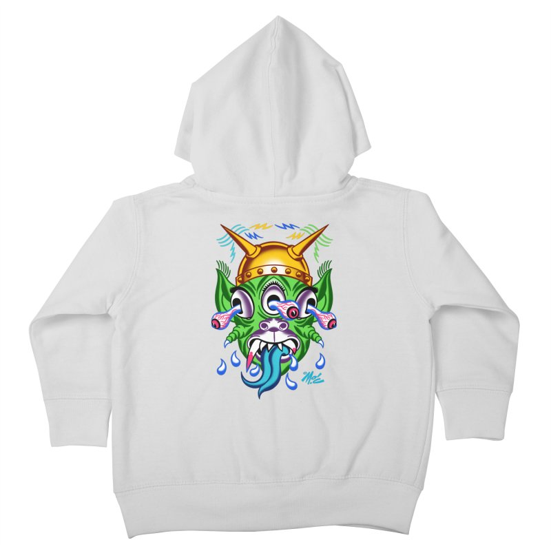 """'Leave it to Beaver' Monster Shirt! """"Beaver"""" version! Kids Toddler Zip-Up Hoody by Mitch O'Connell"""