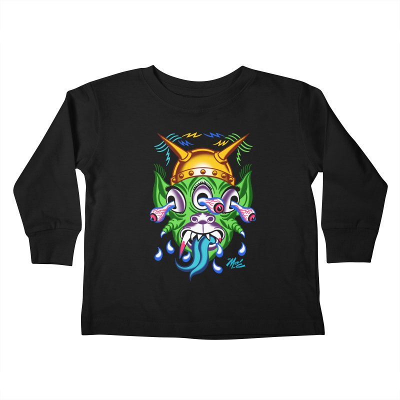 "'Leave it to Beaver' Monster Shirt! ""Beaver"" version! Kids Toddler Longsleeve T-Shirt by Mitch O'Connell"