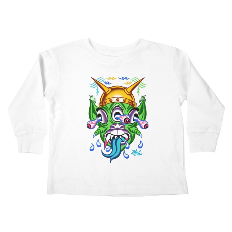 """'Leave it to Beaver' Monster Shirt! """"Beaver"""" version! Kids Toddler Longsleeve T-Shirt by Mitch O'Connell"""