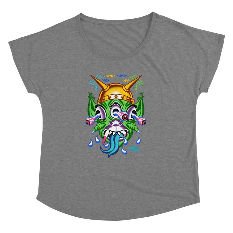 """'Leave it to Beaver' Monster Shirt! """"Beaver"""" version! Women's Dolman Scoop Neck by Mitch O'Connell"""