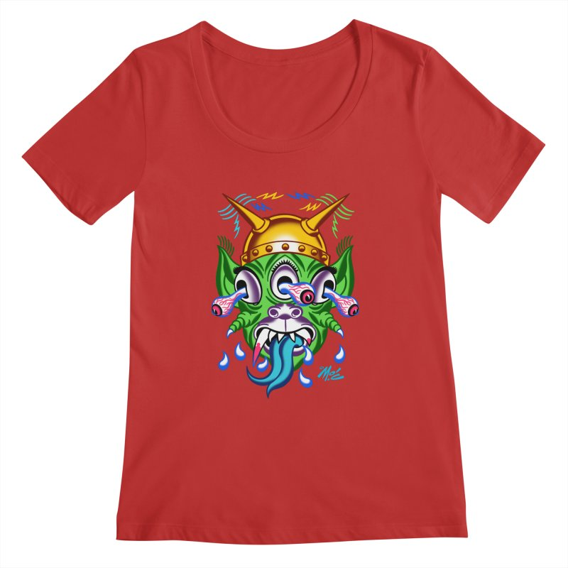 """'Leave it to Beaver' Monster Shirt! """"Beaver"""" version! Women's Regular Scoop Neck by Mitch O'Connell"""