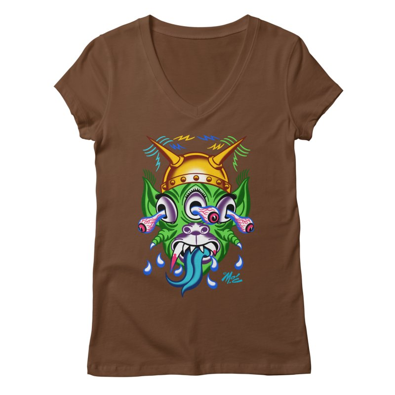 "'Leave it to Beaver' Monster Shirt! ""Beaver"" version! Women's Regular V-Neck by Mitch O'Connell"