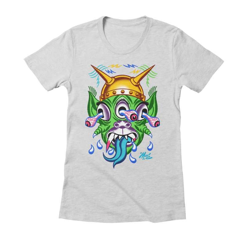 """'Leave it to Beaver' Monster Shirt! """"Beaver"""" version! Women's Fitted T-Shirt by Mitch O'Connell"""